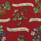 #1A LANDS' END USA BLUE BERRY FLORAL RED GREEN  BROWN Men Silk Neck Tie Necktie