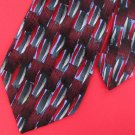 """59 1/2"""" J Garcia Paris In The Rain  Maroon Geometric Neck Tie Men Designer EUC"""