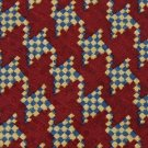 "#1A XL 62"" LONG XMI STRIPE MAROON TAN BLUE Checkered  SILK Necktie NECK TIE 6429"