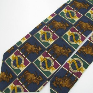 #1A New STRUCTURE MOOSE SQUARE NAVY BROWN GREEN  SILK MEN Tie NECKTIE