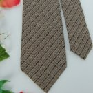 #1A Vintage  PARSOW'S STRIPE NARROW BROWN TAN GREY Men Neck Tie
