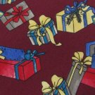 #1A NWT ROBERT STOCK  Christmas Holiday GIFTS MAROON RED BLUE  Necktie Tie