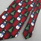 New Hallmark Christmas Checkered Snowman Scarf  Candy Cane Tree Neck Tie Lot#A