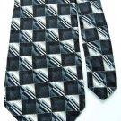 JONES NEW YORK BLACK GRAY SILVER SHIRT/SUIT NECK TIE Men Designer Tie EUC