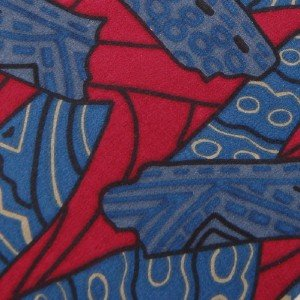 USA Seller OLEG CASSINI ART DECO BLUE RED GREY SILK MEN NECK TIE Excellent