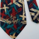 APPOINTED APPEARL NAVY TEAL RED POLYESTER MEN NECK TIE Men Designer Tie EUC