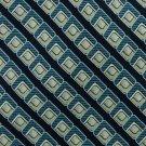 ANDHURST STRIPE NAVY BLUE BEIGE SILK NECK TIE Men Designer Tie EUC