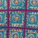#1A LT DESIGNS Turquoise Violet Square Men  Silk TIE NECKTIE