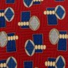 ANDREW ROSETTI RED BLUE YELLOW SILK MEN NECK TIE Men Designer Tie EUC