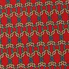 SUMMIT HILLS VTG NARROW LINKS RED YELLOW MEN NECK TIE Men Designer Tie EUC