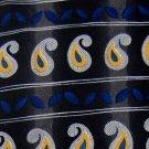 ALBERT NIPON STRIPE PAISLEY BLACK BLUE SILK NECK TIE Men Designer EUC