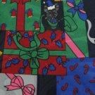 #1A New FRATELLO HAND MADE Christmas Holiday GIFT MOUSE NAVY RED  Necktie Tie