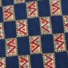 JoS A BANK NavyBlue TAN RED CHECKER SILK MEN NECK TIE Men Designer Tie EUC