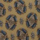 CLUB ROOM ART DECO GOLD BLUE SILVER SILK MEN NECK TIE Men Designer Tie EUC