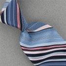Vtg Pierre Cardin Monogram Skinny Sky Navy Blue Texture 70s Neck Tie #V-4 EVC