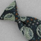 Vintage Victore Ties Art Nouveau Olive Green Clip-On 60s 70s Mens Neck Tie #V-4