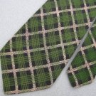 New Elite Made In Italy Green Blk Plaid Square Luxury Neck Tie Men Designer Tie
