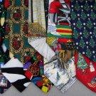 2 Christmas Xmas Holiday Silk Men's Ties Necktie Neck Tie Lot #LO23