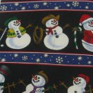 #1A New ST. NICHS TIE SHOP USA CHRISTMAS SNOWMAN BLACK BLUE WHITE RED  NECK TIE