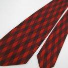 #1A Vintage Van Heusen Square 40/50's RockaBilly Black Red  Necktie Neck Tie