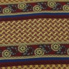 #1A UNICEF NECKTIE CEILING PAPER USA STRIPE GOLD MAROON BLUE Silk Men Neck Tie