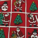 #1A NOEL CHRISTMAS SANTA TREE SNOW MAN RED GREEN WHITE  Men Necktie NECK TIE