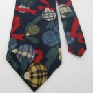 #1A NWT WEMBLEY USA CHRISTMAS ORNAMENTS NAVY RED  Silk MEN Neck Tie NECKTIE