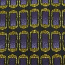 #1A PAULO VISARI ITALY RECTANGLE GOLD PURPLE BLACK  Silk Men Neck Tie Necktie