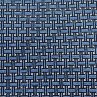 EMILIO ROMANO ITALY BLUE BLACK KHAKI ART DECO Neck Tie Men Designer Tie EUC