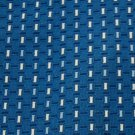 GIESSO WOVEN RECTANGLES BLUE WHTIE NAVY NECK TIE Men Designer Tie EUC