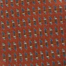 JoS A BANK BROWN GRAY GEOMETRIC SHAPES MEN NECK TIE Men Designer Tie EUC