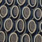 New AMALFI ITALY OVALS BLACK GREY BLUE MEN NECK TIE Men Designer Tie EUC