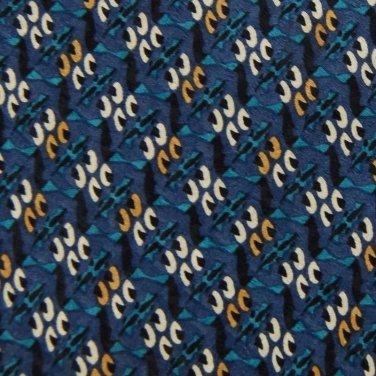 ARTISPHERE DarkBlue KHAKI GREEN PATTERN NECK TIE Men Designer Tie EUC