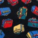 STEVEN WEBER LUGGAGE RED BLUE POLYESTER MEN NECK TIE Men Designer Tie EUC