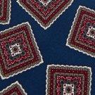 CHRISTOPHER HAYES BLUE MAROON WHITE SILK Men Neck Tie Men Designer Tie EUC