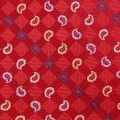 IZOD PAISLEY RED BLUE KHAKI WOVEN MEN NECK TIE Men Designer Tie EUC