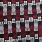 New PIERRE CARDIN USA SQUARE DIAMOND STRIPE MAROON GREY Men Designer Tie