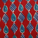 COUNTESS MARA USA PAISLEY DIAMOND RED BLUE Men Neck Tie Men Designer Tie EUC