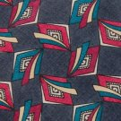 #1A WINDSOR DIAMONDS GREY RED BLUE YELLOW SILK Mens TIE NECKTIE