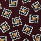 CHAPS RALPH LAUREN MAROON BLUE YELLOW SILK MEN NECK TIE Men Designer Tie EUC