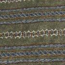 NWT GEOFFREY BEENE USA STRIPE OVAL OLIVE BLUE Neck Tie Men Designer Tie EUC