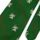 Vintage Wemlon Wembley Texture Dragon Art 60s Green Men Neck Tie Necktie  #EV