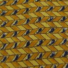 GEOFFREY BEENE USA PAISLEY STRIPE GOLD YELLOW NAVY Neck Tie Men Designer Tie EUC