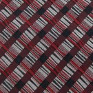 JOSEPH FEISS MAROON RED BLACK WOVEN STRIPE MEN NECK TIE Men Designer Tie EUC