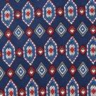 BERT PULITZER NAVY BLUE RED DIAMOND SILK NECK TIE Men Designer Tie EUC
