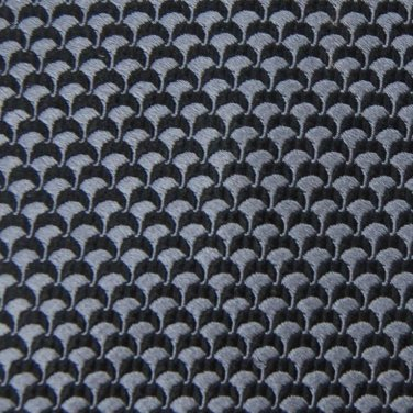 CLUB ROOM WOVEN GREY BLACK 100% SILK TIE NECK TIE Men Designer Tie EUC