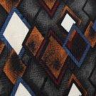 HUNTING HORN RHOMBUS GOLD BLUE WHITE BLACK MEN NECK TIE Men Designer Tie EUC