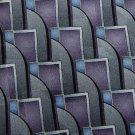 NWT Savile Row USA Wave Purple Grey Sky Blue Silk Neck Tie Men Designer Tie EUC