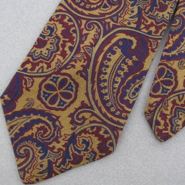 HAROLD POWELL Woven Silk Mens Dress Art Nouveau Neck Tie Men Designer Tie EUC