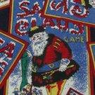 #1A Vintage Joe Boxer Santa Pastime Christmas Santa Green Red White Necktie Tie